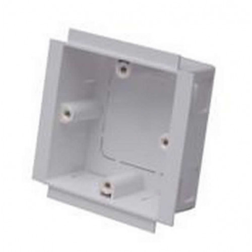 Marco Satin Anodised Aluminium White Single Gang Power Pole Outlet Boxes (Each)