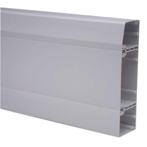 Marco Apollo PVC White 3 Compartment Dado - Skirting Trunking 3m length (3m lgth)