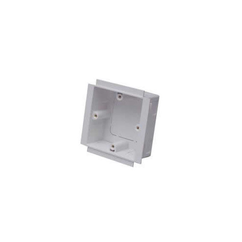 Marco PVC White 50mm Single Gang Trunking Accessory Box (Each)