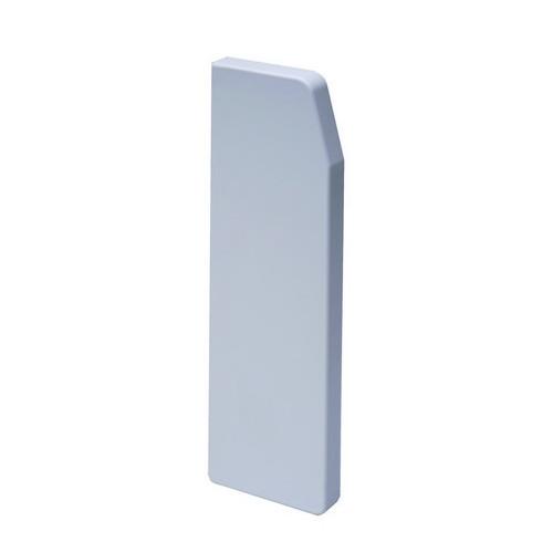 CMW Ltd  | Marco Apollo PVC White 3 Compartment Dado - Skirting Trunking End Cap Left Hand