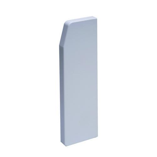 CMW Ltd  | Marco Apollo PVC White 3 Compartment Dado - Skirting Trunking End Cap Right Hand