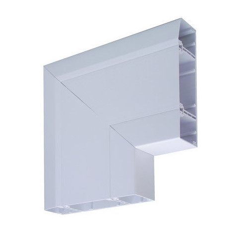 CMW Ltd  | Marco Apollo PVC White 3 Compartment Dado - Skirting Trunking Flat Angle Downward