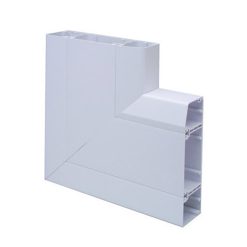 Marco Apollo PVC White 3 Compartment Dado - Skirting Trunking Flat Angle Upward (Each)