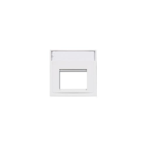 Siemon MX-A-02   Siemon 2 Port 50mm x 50mm Flat Adaptor White