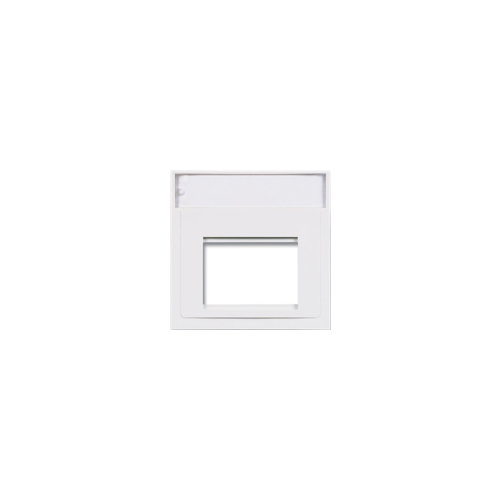 Siemon MX-A-02 | Siemon 2 Port 50mm x 50mm Flat Adaptor White