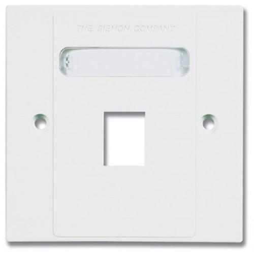 Siemon MX-BFP-S-01-02 | Siemon 1 Port S/G Faceplate White