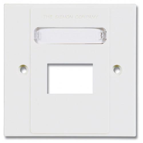 Siemon MX-BFP-S-02-02 | Siemon 2 Port S/G Faceplate White