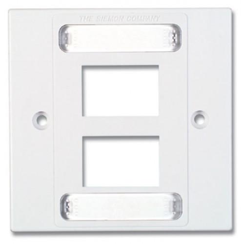 Siemon MX-BFP-S-04-02   Siemon 4 Port S/G Faceplate White