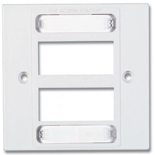 Siemon MX-BFP-S-06-02   Siemon 6 Port S/G Faceplate White