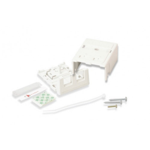 Siemon 2 Port Z-MAX Surface Mount Box White (Each)
