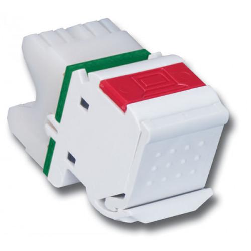 Siemon MX6-02B | Siemon Angled MAX Cat6 UTP Outlet White Bulk Pack (Pack 100)