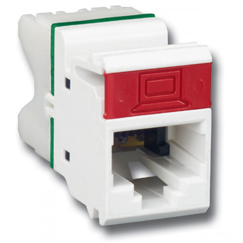 Siemon Flat MAX Cat6 Outlet White
