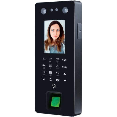 Norden NAC-4001FF | Secnor Compact Facial Fingerprint Access control 2.8inch Screen