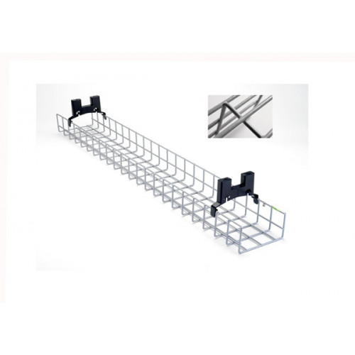 CMW Ltd Desk Cable Management | 1.2m Nylon Coated Desk Basket Tray Kit