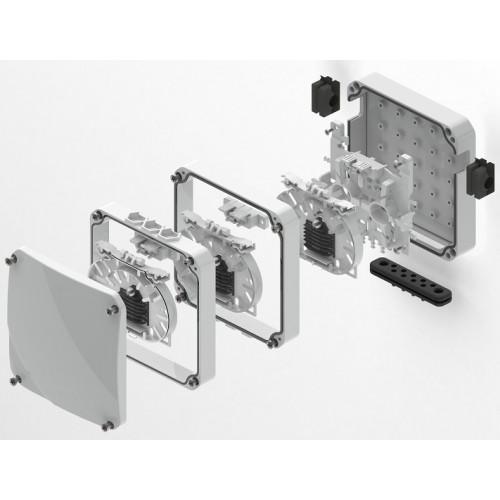Micos Telecom ORM 3 FA Facade Optical Distribution Box - Extension Pack