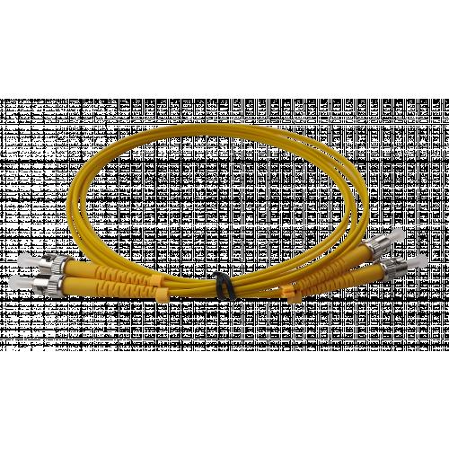 CMW Ltd Fibreoptic Patch Lead | 1m ST-ST singlemode Duplex Patchcord 3mm Jacket Yellow