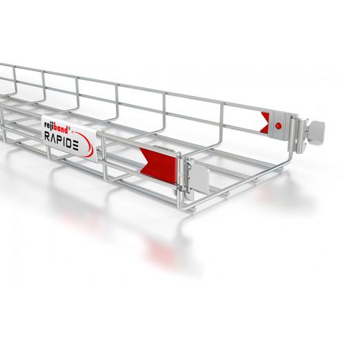 Pemsa Rejiband Rapide Electrogalvanised 60mm Deep Basket Tray