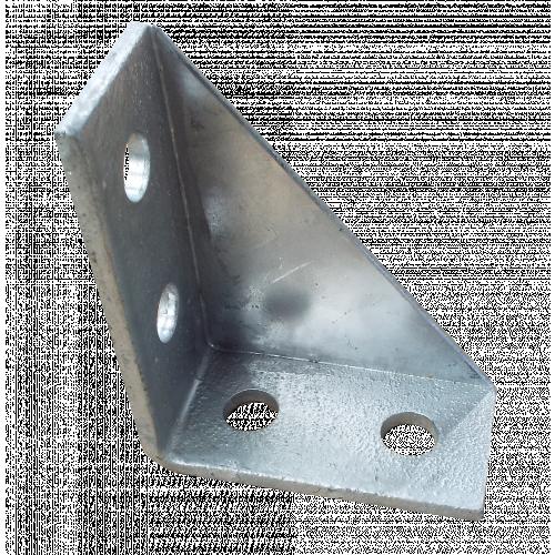 Metpro MP19 | 90 degree Steel Support Channel Gusset Bracket