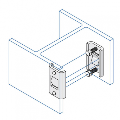 Unistrut/Network Pipe P3087 | Mild Steel Zinc Plated Internal Beam Clips