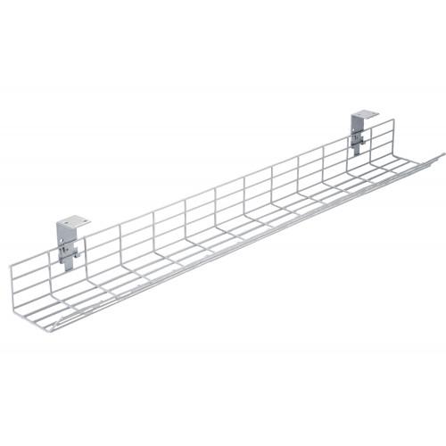 CMW Ltd Desk Cable Management | 1.2m Poly Coated Desk Cable Basket