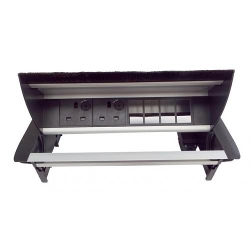 CMW Ltd Desk Cable Management   Desk Unit with 2 Power & 4 x Data Apertures