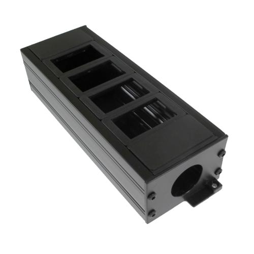 CMW Ltd    4 Way Plastic POD / GOP Box 42mm deep 25mm Entry - Black Each