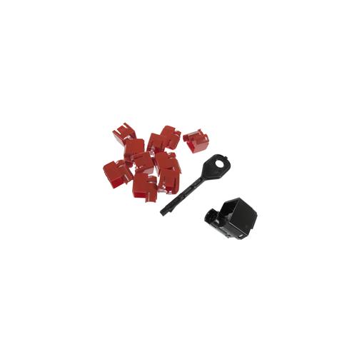 CMW Ltd Copper Structured Cabling PSL-DCPLX-BL   RJ45 Port Locking Clips Black (Pack of 10)