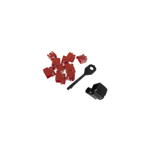 CMW Ltd Copper Structured Cabling PSL-DCPLX-BL | RJ45 Port Locking Clips Black (Pack of 10)