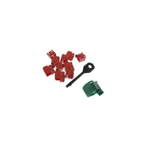 CMW Ltd    RJ45 Port Locking Clips Green (Pack of 10)