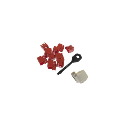 CMW Ltd    RJ45 Port Locking Clips White (Pack of 10)