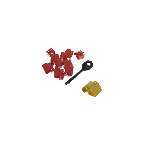 CMW Ltd    RJ45 Port Locking Clips Yellow (Pack of 10)