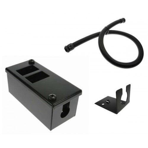 2 Way POD / GOP Box Kit 55mm Deep 20mm Conduit -Black-Each
