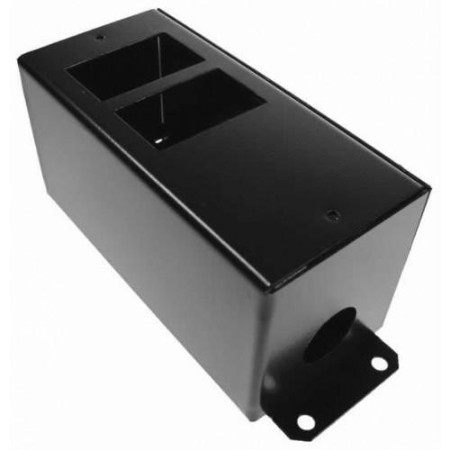 CMW Ltd    2 Way POD / GOP Box with Side Wings 55mm Deep 20mm Entry- Black- Each