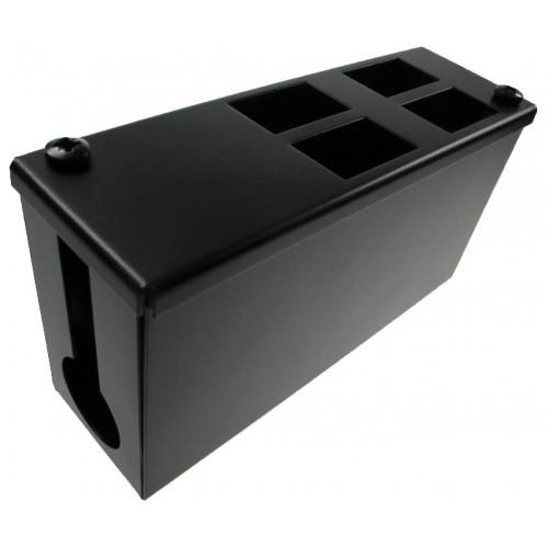 CMW Ltd    4 Way Forward Facing Cat6a POD / GOP Box 100mm Deep 32mm Entry- Black- Each