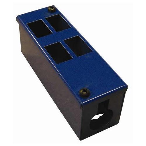 CMW Ltd    4 Way Blue Front Facing POD / GOP Box 70mm Deep 32mm Entry -Each