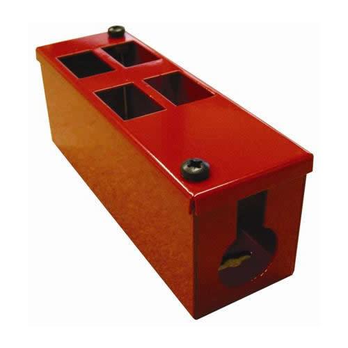CMW Ltd    4 Way Red Front Facing POD / GOP Box 70mm Deep 32mm Entry -Each