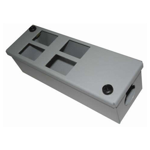 CMW Ltd    4 Way Grey Forward Facing POD / GOP Box Depth 55mm 25mm Entry -Each
