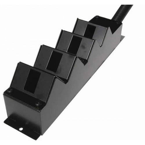 CMW Ltd  | 4 Way Angled Cat6a POD / GOP Box 100mm Deep 32mm Entry- Black- Each