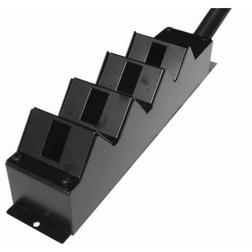 CMW Ltd    4 Way Angled Cat6a POD / GOP Box 100mm Deep 32mm Entry- Black- Each
