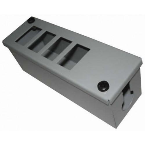 CMW Ltd    4 Way Grey POD / GOP Box 70mm Deep 25mm Entry - Each