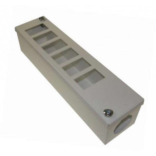 CMW Ltd    White 6 Way POD / GOP Box 55mm Deep 32mm Entry-Each