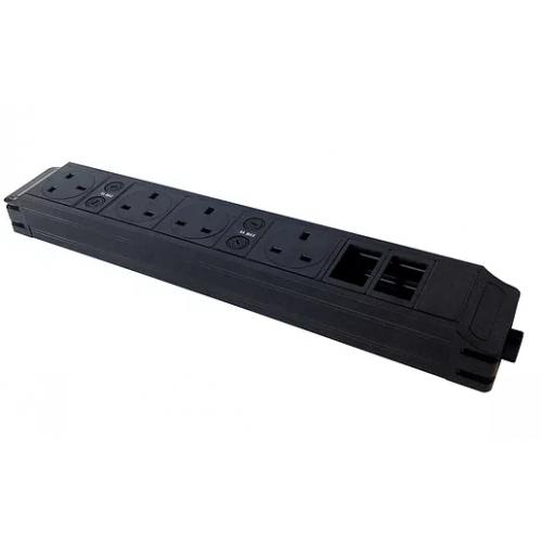 CMW Ltd  | 4 power sockets and 2 data modular unit