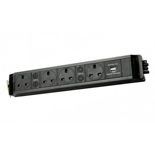 4 Way Power with Dual 3.4a USB (Each)
