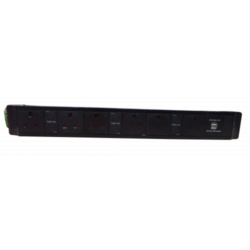 6 Way Power with Dual 3.4a USB (Each)