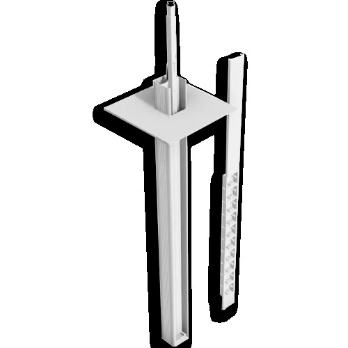 White Power Pole with 6 Accessory Boxes