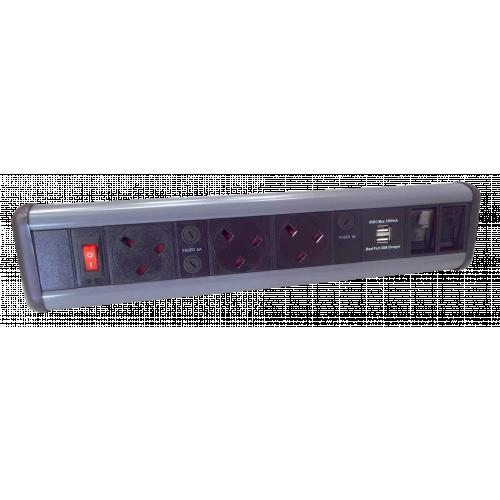 CMW Ltd    3 Power, 2 USB & 2 Cat 6 Modules / Couplers