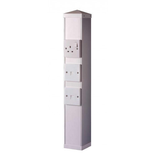 Power Post complete with 6 outlet boxes (Each)