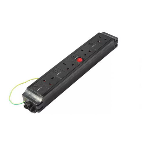 4 way modular power unit, one master switch (Each)