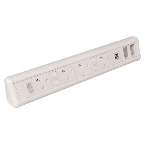 CMW Ltd    White 4 Power 1 x Dual USB 2 x 6C Cut Outs