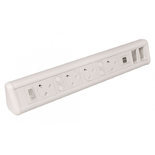 CMW Ltd    White 4 Power 1 x Dual USB 4 x 6C Cut Outs